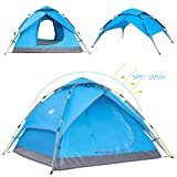 Wantdo Automatic Portable Pop-Up Tent, 2-3 Person Backpacking Camping Tent, 30 Seconds Instant Backpacking Tent, 4 Season Family Tent, Beach Tent for Outdoor Hiking Climbing Fishing Picnic