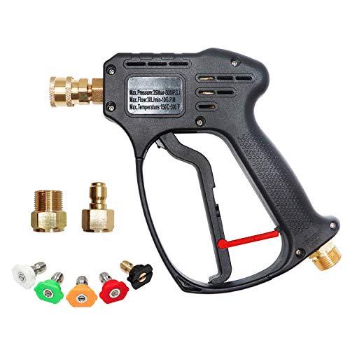 EDOU 5000 PSI High Pressure Power Washer Short Gun Kit,includeing 5 Spray Nozzles 1/4
