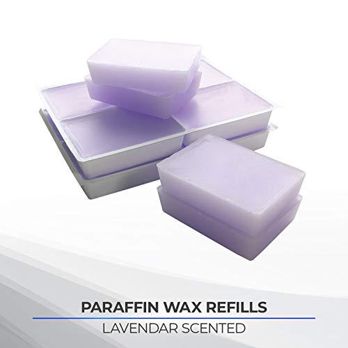 Performa Paraffin Wax Refill, 1 Pound Lavender Scented Blocks, Case of 6, Paraffin Bath Wax, Medical Grade Parraffin Wax for Paraffin Bath, Wax Refill for Wax Bath, Good for Hands, Feet & Arthritis