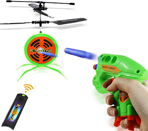 Haktoys HAK207 RC Flying Target Shooting Game | Ultimate Radio Control Gun Shooting Fun | Excellent Accessory for Nerf Guns | Gift and Toy for Kids, Teens, and Adults