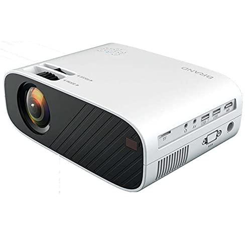 LIULIU Proyector 1080P, 10000 lúmenes Proyector de Video HD 1080P Mini proyector portátil Soporte para proyector LED Proyector de Cine en casa de 300'Proyector LCD,Blanco