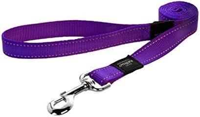 Rogz Reflective Dog Lead, Purple, Large