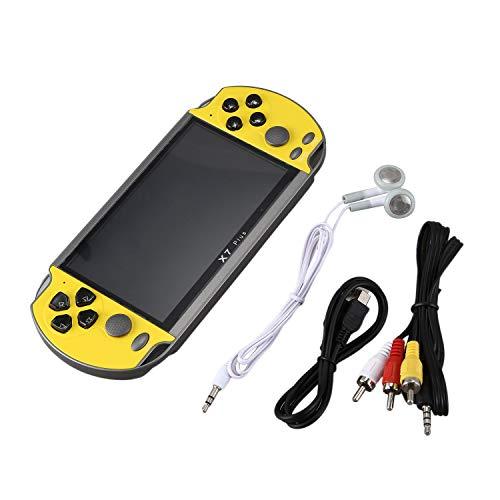 Katigan Consola de Juegos PortáTil X7Plus Palanca de Mando Doble NostáLgico Consola de Juegos PortáTil de Pantalla Grande HD de 5.1 Pulgadas