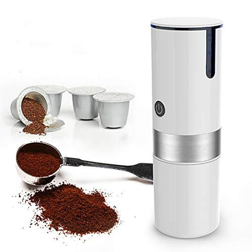 HUBI Cafetera portátil Individual sirven café, Mini Completamente automática de café Fabricante de Coche USB Recargable