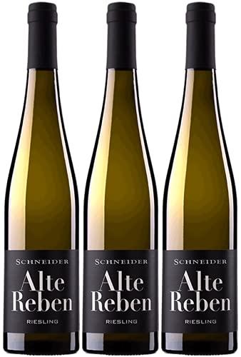 Markus Schneider Riesling Alte Reben 2020 3er Paket | Weißwein aus Deutschland | Pfalz | (3 x 0.75l)