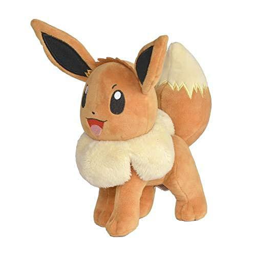 eevee peluche WCT - BOTI Eevee Volpe Evoli Peluche 20cm Nuova Versione 2019 Originale Pokemon
