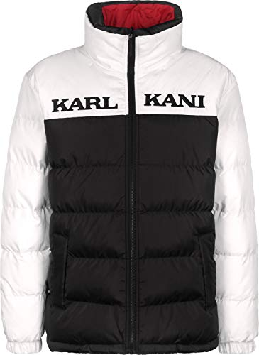 Kani Jkt Retro Rever Puffer Black White Größe: L Farbe: Black