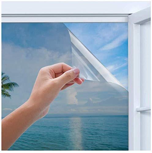44,5X200CM Sichtschutz Fensterfolie, Anti-UV Reflektierende Fensterfolie, Statische Fensterfolie selbsthaftend Blickdicht, Selbstklebende Sichtschutz, Für Zuhause, Büro, Badezimmer