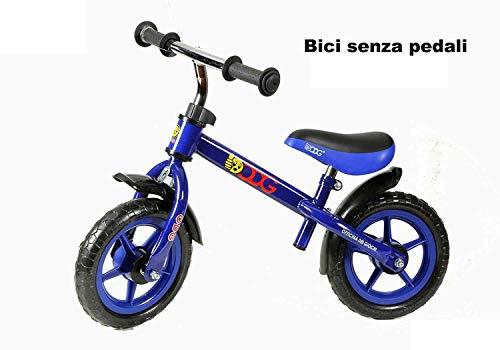 Bici Bicicletta Senza Pedali Pedagogica Equilibrio Bambini 3 a 6 anni 30kg Blu