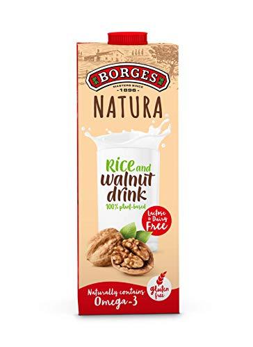 Borges Natura - Bebida de Nuez y Arroz 100% Vegetal, Sin Lactosa Ni Gluten - Envase de 1 Litro.