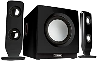 Coby CSMP130BLK iPod and iPhone Docking Stereo Speaker System Black Discontinued by manufacturer