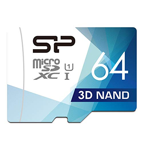 Our #3 Pick is the Silicon Power 64GB 3D NAND High-Speed MicroSD Card