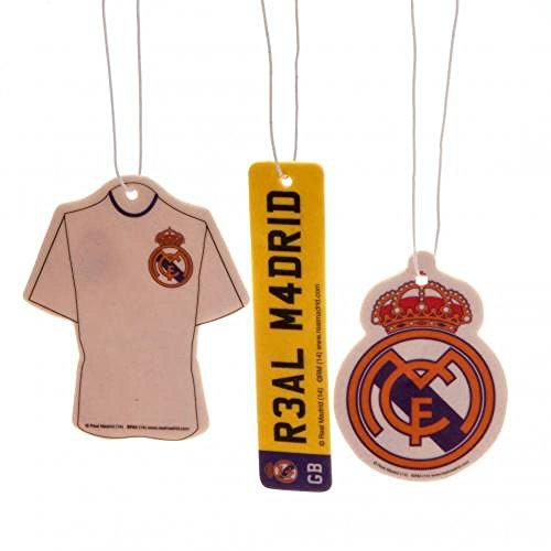 Oficial REAL MADRID FC Ambientador para coche (3unidades)