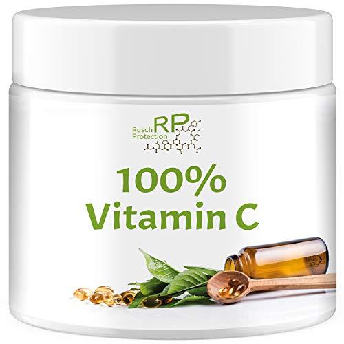 100% Vitamin C Pulver - Reine Ascorbinsäure, 500g Dose, Vegan und Hochdosiert, Immunsystem - Abwehrkräfte - Immunabwehr stärken, für Zähne und Zahnfleisch, ohne Zusätze, Exclusive Qualität