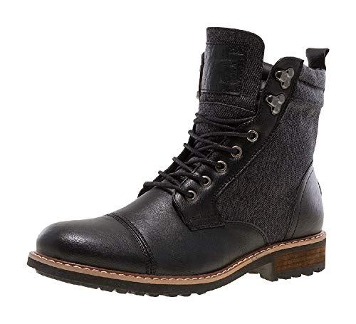 J75 by Jump Men's Garret Black Cap Toe Military Combat Work Boot US Size 8