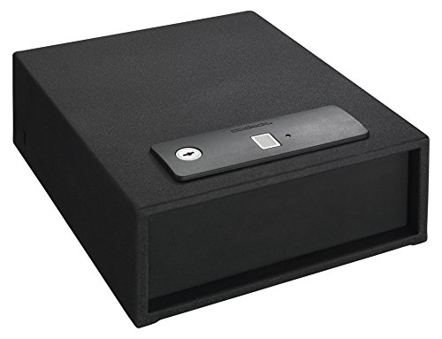 Stack-On QAS-1510-B Quick Access Safe, Open Drawer with Biometeric Lock