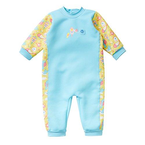 Splash About Traje de Neopreno para bebé Warm In One, Infantil, Pájaros de jardín, 0-3 Meses