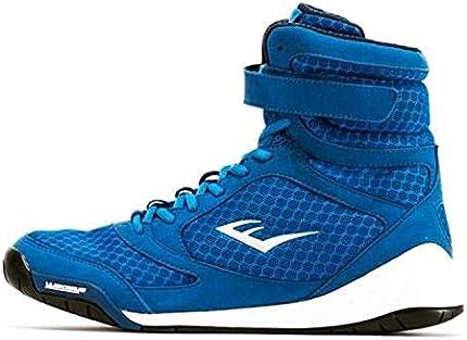 Everlast New Elite - Zapatillas de boxeo con parte superior, color negro, azul, rojo, azul, 7