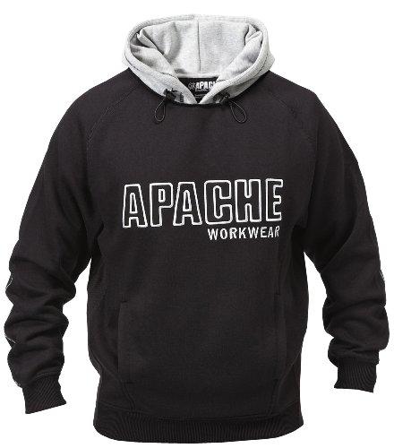 Apache Sweat à capuche molletonné pour homme multicolore Noir/Gris Xx-large