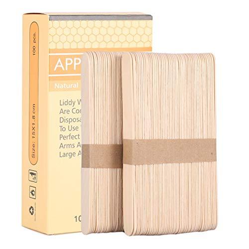 Bâton de fartage, 100pcs/boîte applicateur de spatule jetable en bois bâton de fartage applicateur de fartage épilation à la spatule parfait pour le corps