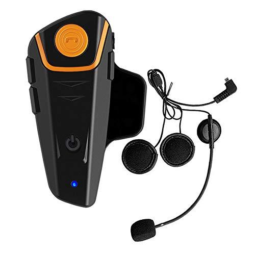 Intercom Moto Oreillette Bluetooth Kit Moto Main Libre. BT-S2 800m Ecouteur Bluetooth/Oreillette Anti Bruit, étanche intégrable au Casque Moto Walkie-Talkie. Idéal pour motocyclisme, Ski (1 Paquet)