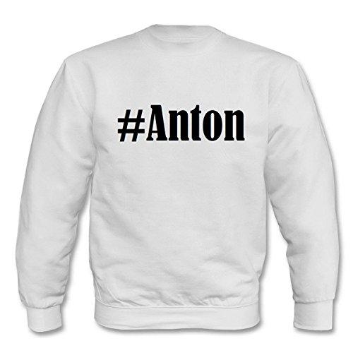 Reifen-Markt Sweatshirt Damen #Anton Größe XL Farbe Weiss Druck Schwarz