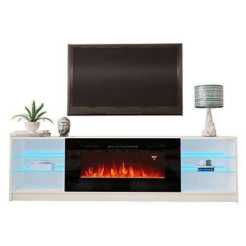 MEBLE FURNITURE & RUGS Boston 01 Electric Fireplace Modern 79