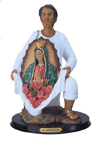 12 Inch Statue Our Lady Of Guadalupe W/ San St Juan Diego Saint Estatua Virgen by GC