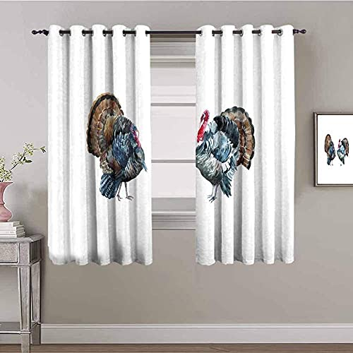 JNWVU Opacas Cortinas Dormitorio - Blanco Simple Abstracto Animal - Impresión 3D Aislantes de Frío y Calor 90% Opacas Cortinas - 200 x 160 cm - Salon Cocina Habitacion Niño Moderna Decorativa