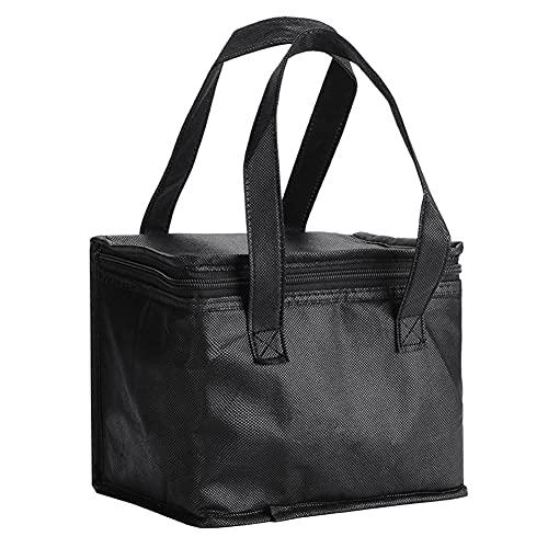DHYED Bolsa isotérmica portátil (280 x 140 x 170 mm), bolsa isotérmica para alimentos, bolsa de hielo, bolsa térmica de aluminio para picnics, barbacoas, senderismo, etc.