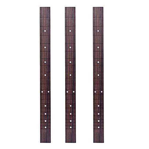 Almencla 3 Stücke 21 Fret Cigar Box Gitarre Griffbrett Musikinstrument Ersatzteile