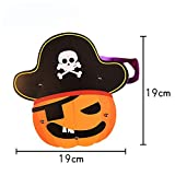 YiYuDe Bolsas de Golosinas de Halloween Bolso De Calabaza Portátil para Niños Bolsa De Regalo Hecha A Mano De Bricolaje para Vestir Mermelada, Calabaza
