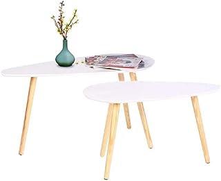 Happy Home Products Mesa de Centro Moderna Juego de 2 Mesitas Laterales anidadas para Sala de Estar Oficina en casa (Mesa grande-85x50x45cm / Mesa pequeña-70x35x40cm)