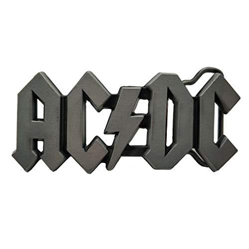 Hebilla de cinturón AC DC Belt Buckle ACDC Logo Rock Punk Music Buckles Grey
