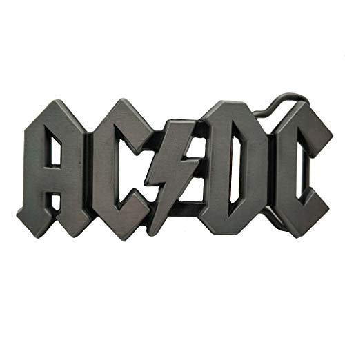Belt buckle AC DC Belt Buckle ACDC Logo Rock Punk Music Buckles Gray