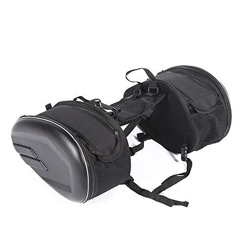 KKmoon Alforjas para Motocicleta, Alforjas Moto Laterales, Bolsa de Casco de Motocicleta Mochila Bolsa de Sillín al Aire Libre, Impermeable Tela Oxford Universal Easy Bag