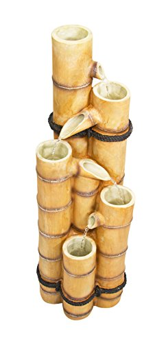 Ambiente Fuente de Agua Cascada de Cañas de Bambú