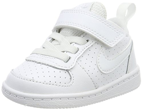 Nike Court Borough Low (TDV), Zapatillas de Gimnasia para Niños, Blanco White...