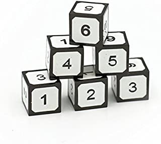 Dice Dungeons Imperial Arctic White Metal 6 D6 Metal Dice Set for D&D, Pathfinder and Other RPGs