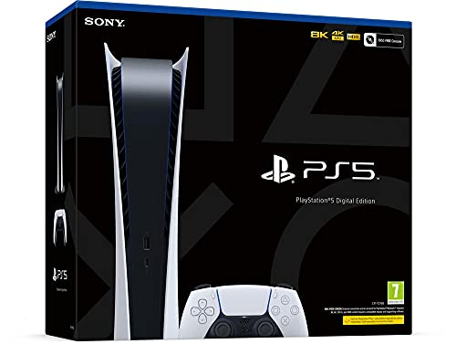 Sony PlayStation 5 Digital Edition, PS5 avec 1 Manette Sans Fil DualSense, Couleur: Blanche