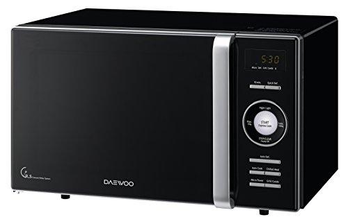 Daewoo KOG-8A6K Microondas, 23 litros, con grill, color negro, 800 W