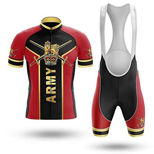 Factory8 - Country Jerseys - Love Your Country! Cycling Jerseys & Sets Collection - Team United Kingdom 'British Army' Men's Cycling Jersey & Short Set - Red - L