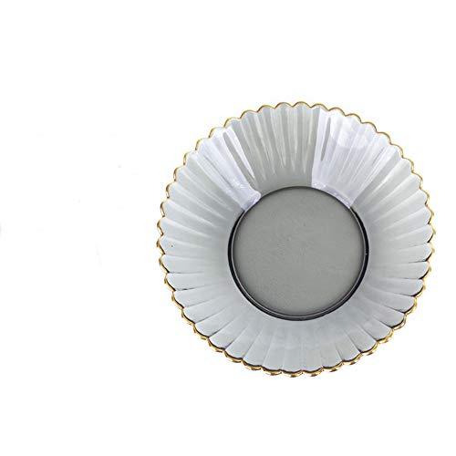 Hochwertige Kristall Gold Hause Glas Chrysantheme Serie Gericht Obstteller Spitzenplatte groß 10-25cm