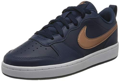 Nike Jungen Court Borough Low 2 (GS) Sneaker, Blau/rot-bronz,40 EU