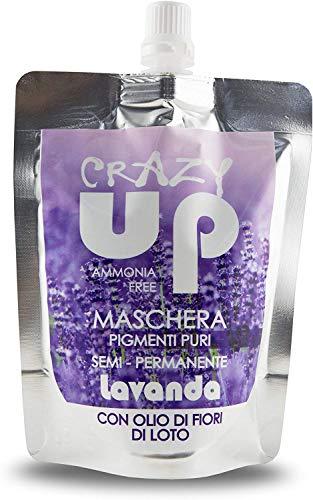 Crazy Up Mascarilla Colorante Sin Amoniaco Semipermanente para el cabello - Lavanda - 200 ml