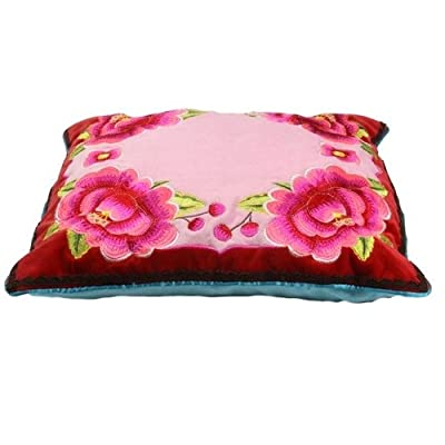 "PiP Studio Home 18"" x 18"" Red Four Flowers Cushion Cover"