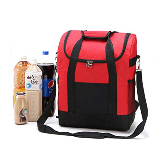 22 l Casual Fashion Rucksack, Picknick-Rucksack, multifunktional, Reise-Aufbewahrungstasche für Camping, Arbeit und Familie Outdoor-Aktivitäten (rot)