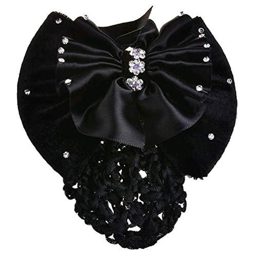 Bismarckbeer femmes Bowknot Barrette cheveux Snood Net Bun Cover Pro Epingle