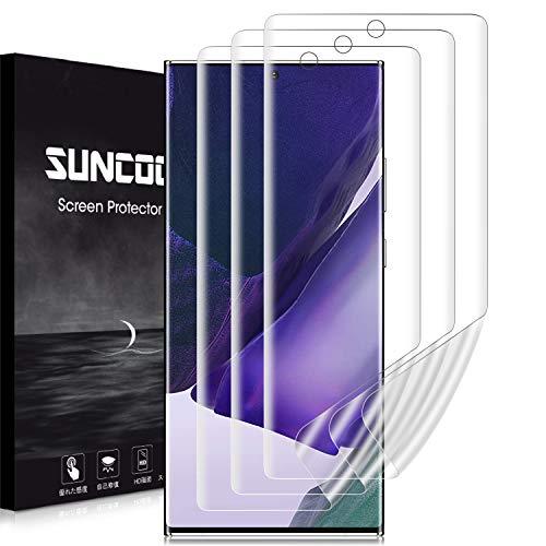 【2020夏改良・3枚セット】SUNCOON Galaxy Note 20 Ultra フィルム 3D全面保護 Galaxy Note 20 Ultra フィルム 傷自動修復技術 99%高透過率 隅浮き防止 湾曲対応 ギャラクシー Note 20 Ultra 液晶保護フィルム (Galaxy Note 20 Ultra)