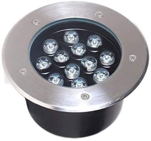 WXL Spot Exterieur LED Encastrable Embarqué Souterrain Lampe Souterrain Paysage Chemin De Lumière Jardin Décoration Pelouse (Color : 12W, Size : Green Light)